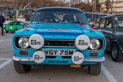 XV Zlotnego Costa Brava Historyczna samochodowa rasa w miasteczku Palamos w Catalonia 04 19 2018 Hiszpania, grodzki Palamos Obraz Royalty Free