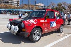 XV Zlotnego Costa Brava Historyczna samochodowa rasa w miasteczku Palamos w Catalonia 04 20 2018 Hiszpania, grodzki Palamos Obrazy Royalty Free