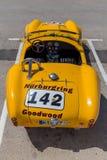 XV Zlotnego Costa Brava Historyczna samochodowa rasa w miasteczku Palamos w Catalonia 04 20 2018 Hiszpania, grodzki Palamos Obraz Royalty Free