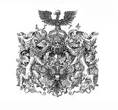 XVI century, coat of arms of Lubeck Royalty Free Stock Photography