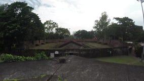 XVI secolo i tetti murati intra muros del mattone della città stock footage