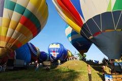 The XVI-th Velikie Luki International Balloon Meet. VELIKIE LUKI, RUSSIAN FEDERATION, JUNE 12 :Opening of the XVI-th International Balloon Meet, pilots preparing Stock Images