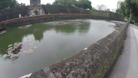 xvi wiek Intramuros izolujący miasto sądu jarda wodny staw zdjęcie wideo