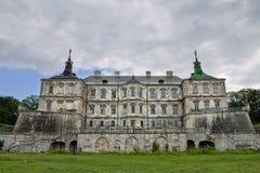 XVIIème siècle de château de Pidhirtsi Images libres de droits