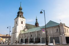 XVII kerk Bernardine en klooster in Piotrkow Royalty-vrije Stock Fotografie