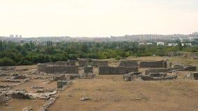 XVII secolo della città antica di Salona BC, la Croazia archivi video