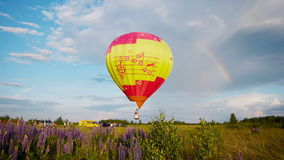 The XVII-th Velikie Luki International Balloon Meet stock video