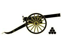 XVIIIème siècle de canon Vecteur Photo stock