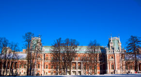 XVIII century classicism architecture. Big Palace in Tsaritsino museum and reserve park, Moscow (XVIII century architecture Royalty Free Stock Image