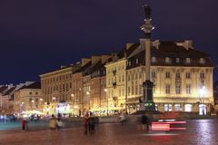 XVIII eeuwgebouwen in Krakowskie PrzedmieÅcie. Warshau. Polen Royalty-vrije Stock Foto