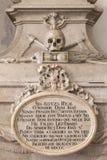 XVIII wiek grobowiec Dom Antonio Zdjęcia Stock