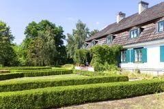 xviii wiek połysku rezydenci ziemskiej dom, na otwartym powietrzu muzeum, Janowiec, Polska Fotografia Royalty Free