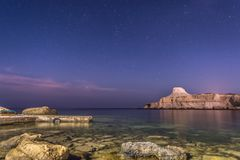 Xwejni zatoki nocy głąbik obrazy royalty free