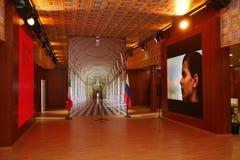 XX圣彼得堡国际经济论坛(SPIEF 2016年俄罗斯) 在亭子意大利 免版税库存图片