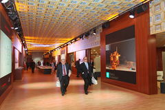 XX Świątobliwy Petersburg międzynarodowy ekonomiczny forum (SPIEF 2016 Rosja) W pawilonie Włochy Zdjęcia Royalty Free