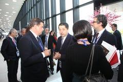 XX форум Санкт-Петербурга международный экономический (SPIEF Россия 2016) посетители, гости и участники форума Стоковое Изображение RF