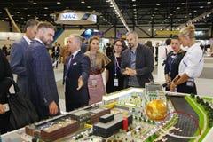 XX fórum econômico internacional de St Petersburg (SPIEF Rússia 2016) visitantes, convidados e participantes do fórum Fotografia de Stock Royalty Free