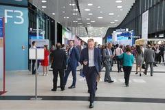 XX forum économique international de St Petersbourg (SPIEF Russie 2016) visiteurs, invités et participants du forum Photos stock