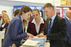 XX Saint Petersburg international economic forum ( SPIEF 2016 Russia ). visitors, guests and participants of the forum Stock Images