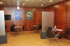 XX St Petersburg internationellt ekonomiskt forum (SPIEF Ryssland 2016) I paviljongen Italien Arkivfoto