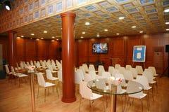 XX St Petersburg internationellt ekonomiskt forum (SPIEF Ryssland 2016) I paviljongen Italien Fotografering för Bildbyråer