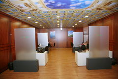 XX St Petersburg internationellt ekonomiskt forum (SPIEF Ryssland 2016) I paviljongen Italien Royaltyfri Fotografi