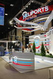 XX St Petersburg internationellt ekonomiskt forum (SPIEF Ryssland 2016) ställningen av producentheliporter Royaltyfria Foton
