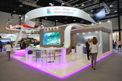 XX St Petersburg internationellt ekonomiskt forum (SPIEF Ryssland 2016) ställningen av regionen av Krasnodar Krai Royaltyfria Bilder