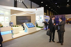 XX St Petersburg internationellt ekonomiskt forum (SPIEF Ryssland 2016) ställningen av regionen republiken av Krim Royaltyfria Bilder