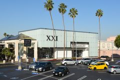 XXI Forever at South Coast Plaza. COSTA MESA, CA - DEC 1, 2017: XXI Forever at South Coast Plaza. Forever 21 is a chain for the latest fads in clothes Royalty Free Stock Images