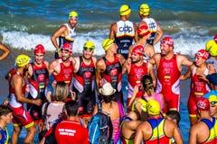 XXI Triathlon Herbalife Villa de Rota stockfoto