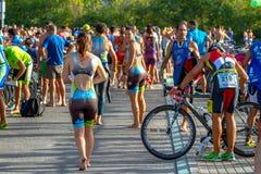 XXI Triathlon Herbalife Villa de Rota lizenzfreie stockfotografie