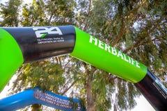 XXI Triathlon Herbalife Villa de Rota stockfotos