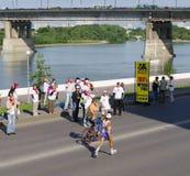 XXII西伯利亚国际马拉松,鄂木斯克,俄罗斯 06 08 2011年 库存照片