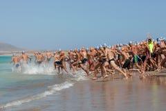 XXII Travesía a Nado El Río in Lanzarote Royalty Free Stock Images