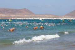 XXII Travesía a Nado El Río in Lanzarote Stock Image