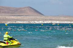 XXII Travesia ein Nado EL Rio in Lanzarote Stockfotos