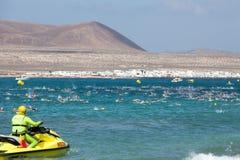 XXII Travesia a Nado El Rio in Lanzarote Stock Photos