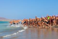 XXII Travesia um Rio do EL de Nado em Lanzarote Fotografia de Stock Royalty Free