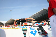 The XXIIe International Meeting Arena of Swimming Stock Images