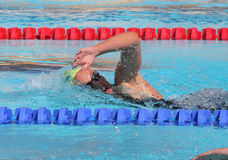 The XXIIe International Meeting Arena of Swimming. Canet Natation 66 Swimmer's Margaux Fabre during the XXIIe International Meeting Arena of Swimming. At the Royalty Free Stock Image
