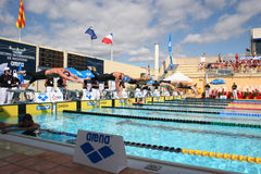 The XXIIe International Meeting Arena of Swimming Royalty Free Stock Photography