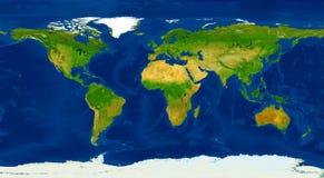 XXL大小物理世界地图例证 库存例证
