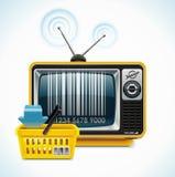 xxl вектора tv магазина иконы Стоковая Фотография RF