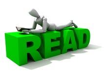 xxl чтения Стоковое Фото