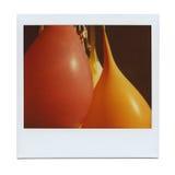 XXL - Altes buntes Foto, Gelb, rot Stockfoto
