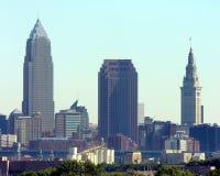 XXL Cleveland Skylinepanorama Lizenzfreie Stockbilder