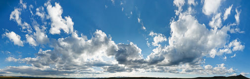 XXL Cloudscape Panorama Stock Photos