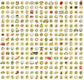 XXL Collection of 289 doodled icons for every occasion No.1 Stock Photos
