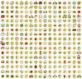 XXL Collection of 289 doodled icons for every occasion No.3 Royalty Free Stock Images